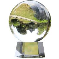 【支持礼品卡】白水晶球招财风水透明杂技摄影拍照玻璃家居装饰品客厅办公桌摆件4or