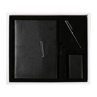 充电宝礼盒三件套活页本子笔记本三折边记事本