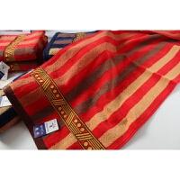 棉毛巾 加厚吸水婚庆结婚情侣红色面巾两条装 78x35cm