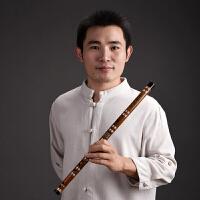 双插笛子乐器 竹笛 考级横笛特制苦竹笛