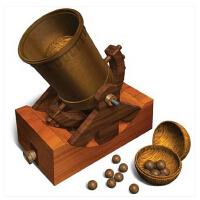 RECESKY 达芬奇手稿复刻拼装模型子母火炮加农跑 创意益智玩具