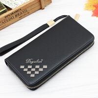 男士钱包长款拉链钱包男韩版时尚商务手机包手提包多卡位学生钱包