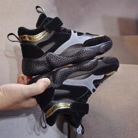 冬季新款童鞋儿童加绒保暖中帮运动鞋子男女童加棉休闲鞋棉鞋