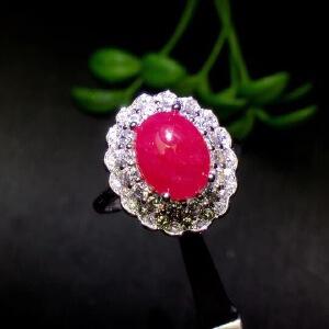 纯天然缅甸红宝石戒指