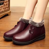 奶奶棉鞋冬季加绒保暖中老年妈妈冬鞋老太太棉鞋女平底防滑老奶奶老鞋srr