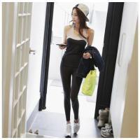 韩国跑步服速干背心运动套装女带胸垫健身房休闲瑜伽服