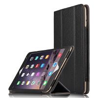 苹果ipad mini4保护套 真皮 皮套 保护壳 7.9寸平板电脑支撑套壳 黑色【 头层 牛皮】送贴膜