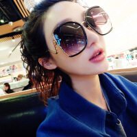 加大框圆脸显瘦偏光太阳眼镜女明星2018新款韩版街拍方脸个性墨镜