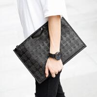 潮流个性男士鬼头手拿包 新款韩版手腕包 商务男士文件手腕包