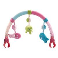 婴儿摇铃床挂玩具宝宝推车挂件毛绒布艺婴儿床夹车夹玩具 海世界车床夹