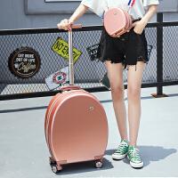 椭圆形网红小行李箱抖音20寸拉杆箱女潮学生旅行箱公主登机箱