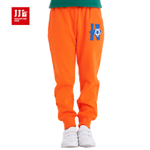 jjlkids季季乐童装童裤男童春秋季裤子中大儿童针织长裤休闲裤BDK42010