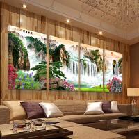 客厅装饰画沙发背景墙中式壁画现代简约水晶画电表箱画山水风景画书房办公室流水生财挂画