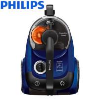 飞利浦(PHILIPS)家用卧式吸尘器 手持遥控小型便携式大功率地毯吸尘机 大容量无耗材 亮蓝色FC9710-1800