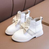 【活动价:126】女童靴子冬季皮鞋2019新款宝宝中大童鞋棉靴加绒韩版儿真皮童短靴
