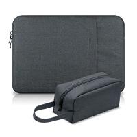苹果笔记本电脑包Macbook13.3内胆包12保护套ipad pro15.6air +加大电源包
