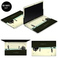 14寸华硕笔记本贴膜X454L X454LJ X501 X501A 电脑贴纸外壳保护膜 SC-327 ABC三面
