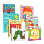 英文原版 I am a Bunny 我是一只兔子 Dear Zoo 亲爱的动物园 Where's Spot? 7册纸板