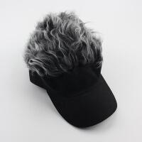 №【2019新款】冬天带的鸭舌假发棒球帽男女欧美流行遮阳帽假发帽子个性搞怪帽潮 可调节