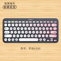 罗技k480键盘膜k380贴纸Logitech无线蓝牙键盘贴可爱创意定制贴膜