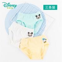 迪士尼Disney童装 男童米老鼠印花三角裤3条装新款迪斯尼宝宝舒适透气内裤201P842