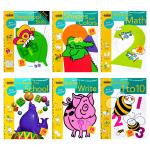 正版现货 数学/写作/数字/形状/颜色认知/学习能力 Preschool 兰登美国学龄前儿童练习册6册 英文原版 Go