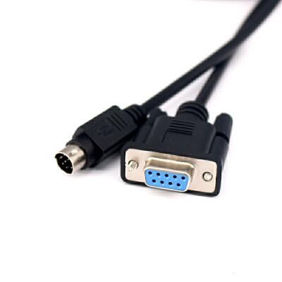 索尼VISCA8针转Com9串口232数据线SONY D70P视频会议摄像机控制线 黑色