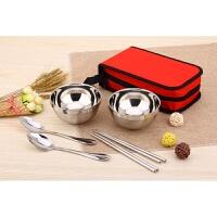 户外餐具包不锈钢餐具碗筷勺单人双人便携野餐包旅行餐具野炊套装