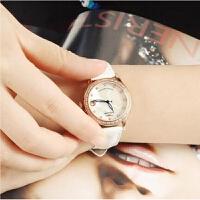 【专柜同款】古尊手表女机械表镶钻时尚潮流圆形皮带手表女士6130