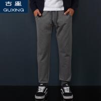 运动裤男小脚裤休闲长裤秋冬加绒时尚男裤潮流哈伦裤束脚卫裤