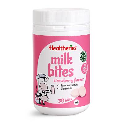 新西兰?Healtheries?贺寿利高钙牛奶草莓口味咬咬片?零食奶片