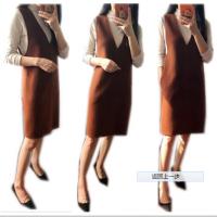 秋冬连衣裙女2017韩版新款毛呢背心裙中长款时尚背带裙显瘦打底裙