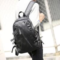 2018新款韩版男士背包 潮流皮质学生书包电脑包 休闲旅行双肩包