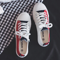 冬季男士帆布鞋透气男鞋百搭板鞋学生布鞋韩版潮流休闲鞋港风潮鞋 607红色
