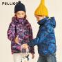 伯希和户外儿童冲锋衣三合一秋冬男女童印花抓绒两件套登山服