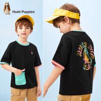【2件5折:149.5元】暇步士童装男童短袖T恤2021夏季新款中大童个性撞色口袋圆领衫