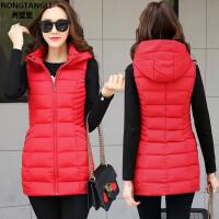 羽绒棉马甲女装秋冬新款韩版修身中长款马夹加厚保暖显瘦外套