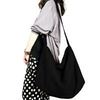 春秋旅行简约文艺大包帆布包女单肩斜挎女包帆布袋防水布袋包超大