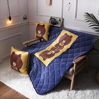 卡通抱枕被子两用汽车珊瑚绒办公室沙发靠垫午睡枕头被加厚小靠枕
