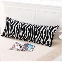 法莱绒双人长枕套 印花法兰绒1.2/1.5/1.8m米床上用品枕芯套