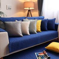 九只猫四季纯棉沙发垫纯色北欧沙发垫现代防滑全棉布艺沙发坐垫子