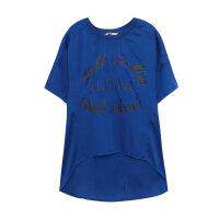 【5.10日抢购价:35】美特斯邦威短袖T恤女装夏季新款潮流前短后长225689