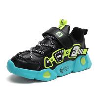 【1件1.5折�r:59元】童鞋男童�和��\�有�2020新款秋季皮面跑步鞋防水中大童�p便休�e鞋8937皮面�\�有�