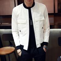 男士外套 春季青年韩版休闲潮帅气夹克修身款秋季薄款棒球服