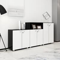 办公室带锁储物柜资料柜档案柜高柜子文件柜木质书柜书架隔断柜