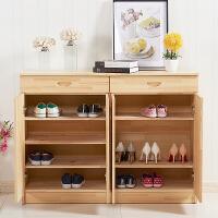 鞋柜实木特价省空间小户型多功能玄关简易超薄松木简约鞋厨