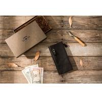 纯手工长款钱包复古做旧多卡包男士手包皮大容量拉链手机包