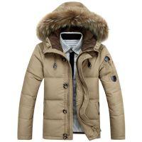 新款冬季加厚男款大码男士羽绒服大毛领外套