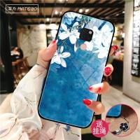 华为mate20手机壳个性创意mate20Pro玻璃保护套mate20x中国风茶花mete20全包防 Mate20 白