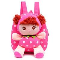 韩版幼儿园双肩包1-2-3岁宝宝小书包可爱背包男女孩儿童卡通包潮 摩丝娃娃 玫红色